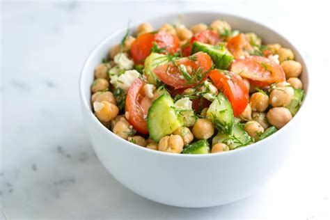 easy salad recipe easy chickpea salad recipe with lemon and dill