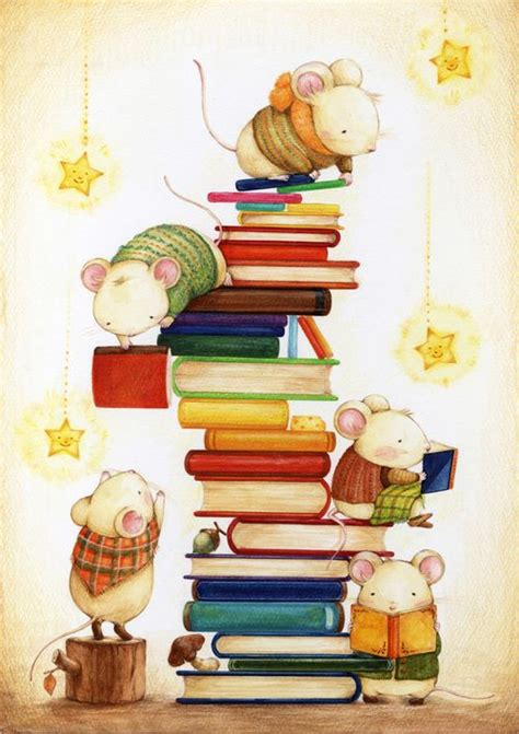libro illustrating childrens books weeding day art print book worms tes and mouse illustration