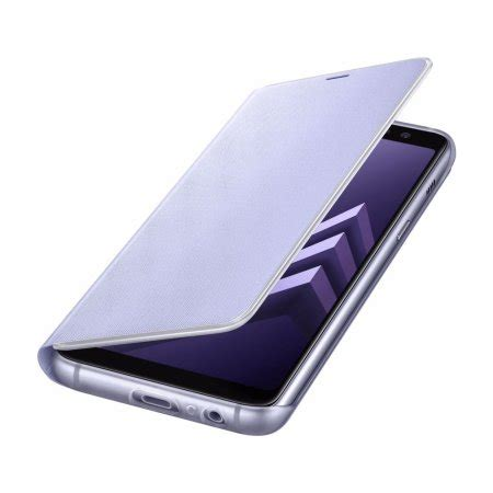 Samsung Galaxy A8 Orchid Gray official samsung galaxy a8 2018 neon flip orchid