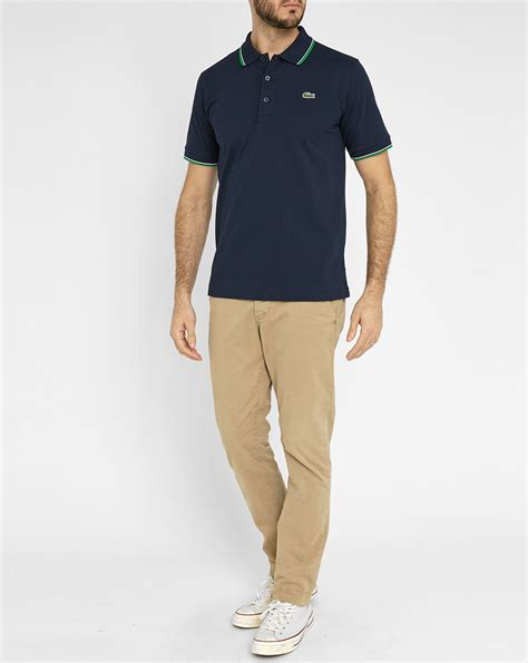 New Lacoste Navy And Green Tshirt For lacoste navy sport piqu 233 polo shirt with green white
