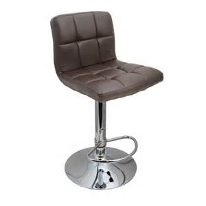 Bar Stool Scratching Floor by 2 Brown Modern Bar Stool Pu Leather Adjustable Swivel