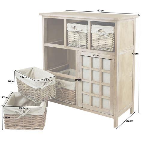 hartleys brown 5 drawer wicker basket storage unit shabby