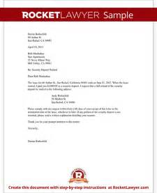 Refund Letter Template by Tenant S Security Deposit Refund Letter Template With Sle