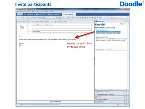 doodle poll plugin doodle widget for lotus notes