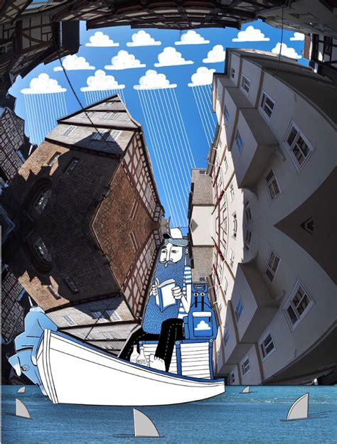 Sprei Carakter Tomas lamadieu draws whimsical into the sky