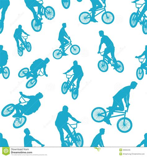 pattern for riding stock seamless ride bicycle pattern background vector royalty
