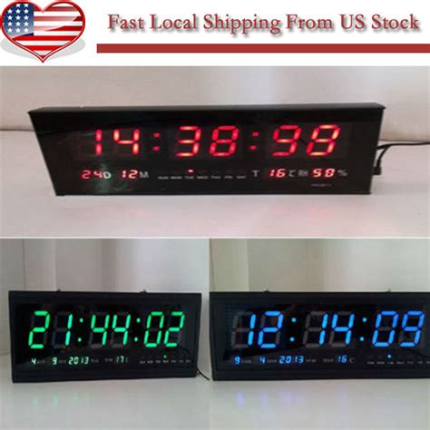 battery operated wall mounted ls digital large big digits led wall desk clock with