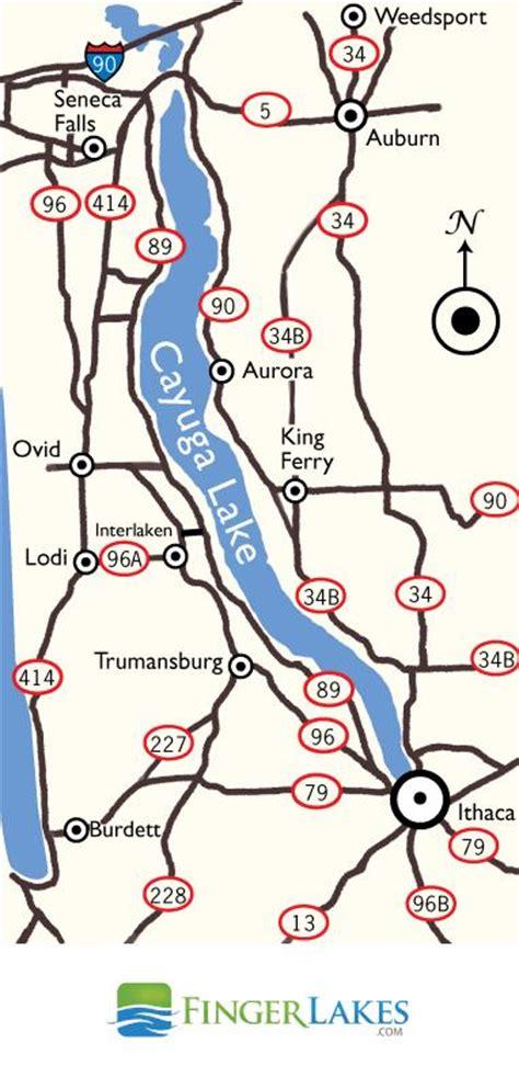 cayuga lake wine trail map cayuga lake map view maps of cayuga lake