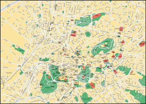 athens map map of athens city maps of greece planetolog