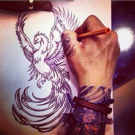 symbolic meanings  phoenix tattoos  men