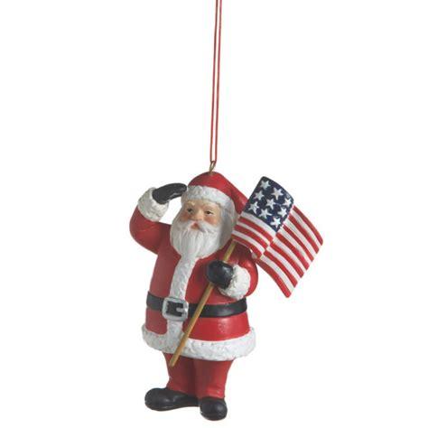 patriotic santa christmas ornament midwest cbk