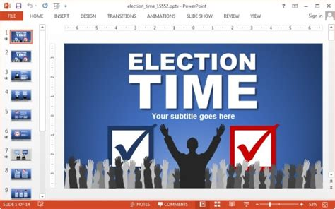 Animated Election Powerpoint Template Political Caign Templates Free