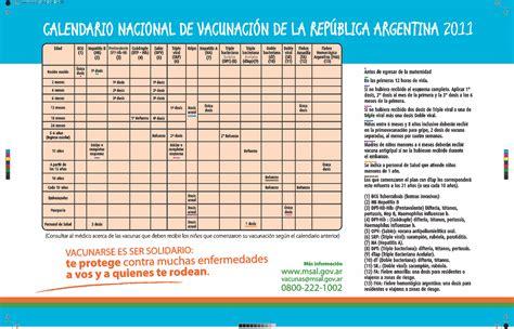 calendario de vacunacin 2016 en argentina calendario nacional de vacunacion de la republica