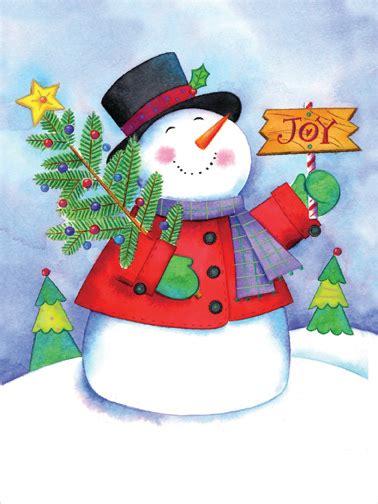 joyful snowman cute christmas card  designer