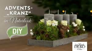 adventskranz dekoration weihnachtsdeko basteln adventskranz im naturlook how to