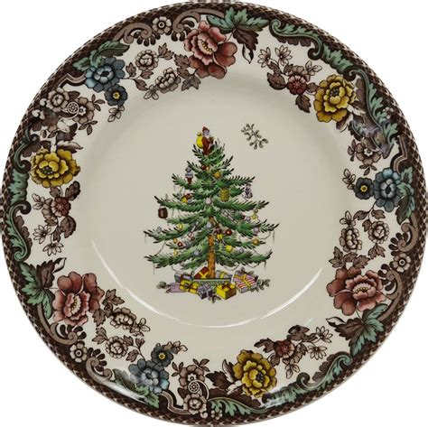 spode christmas tree grove bread butter plate