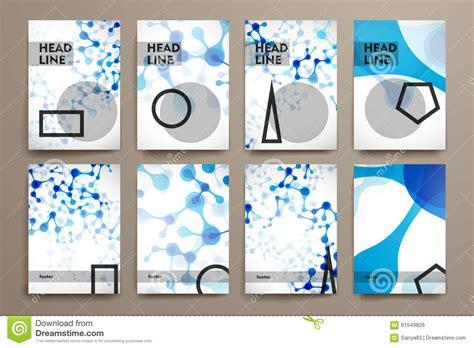 poster design kit set of brochure poster design templates in dna stock