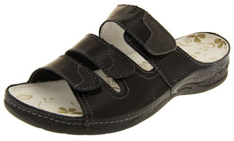 leather mule sandals womens coolers leather mule sandals adjustable velcro