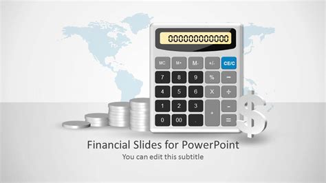powerpoint financial templates financial powerpoint template with calculator slidemodel