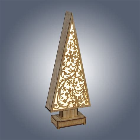 Dar Lighting Led Wooden Tree With Snowflakes Design Wooden Tree With Lights