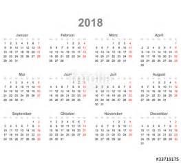 Kalender 2018 Lengkap Vektor Quot Kalender Quer 2018 Quot Stockfotos Und Lizenzfreie Vektoren