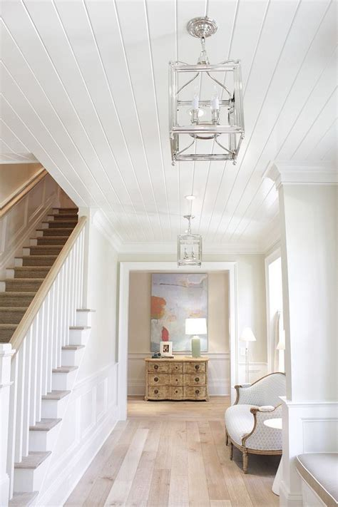 tongue  groove ceiling paint color benjamin moore white