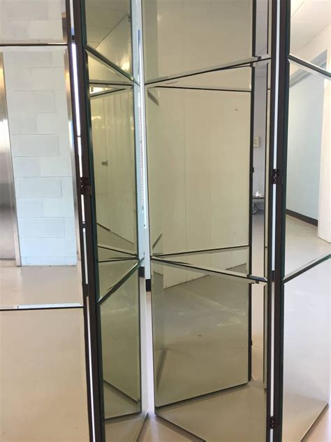 mirrored room divider beveled mirrored screen room divider for sale at 1stdibs