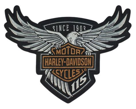 Kaos Harley Davidson 115 White harley davidson 174 115th anniversary eagle emblem patch large 8 x 6 limited edition wisconsin