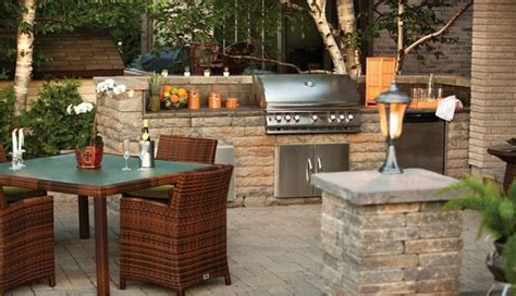 Patio Kitchen Outdoor Kitchen With Techo Block Pillar Traditional