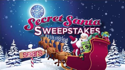 Sears Secret Santa Giveaway - sears secret santa sweepstakes tv commercial ispot tv