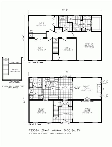 floor plans for 2 story homes ps308a lyndhurst by mannorwood homes two story floorplan