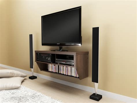 Tv On Floating Shelf by Floating Shelf Tv For Media Console Decofurnish