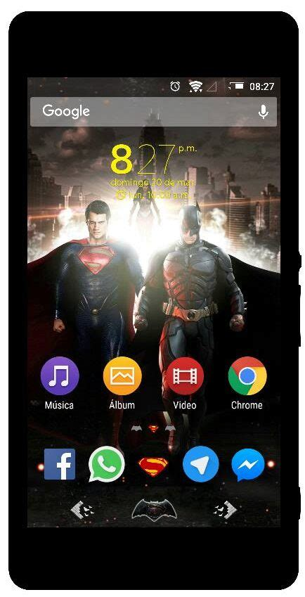 clock themes sony xperia super man vs batman theme clock widget