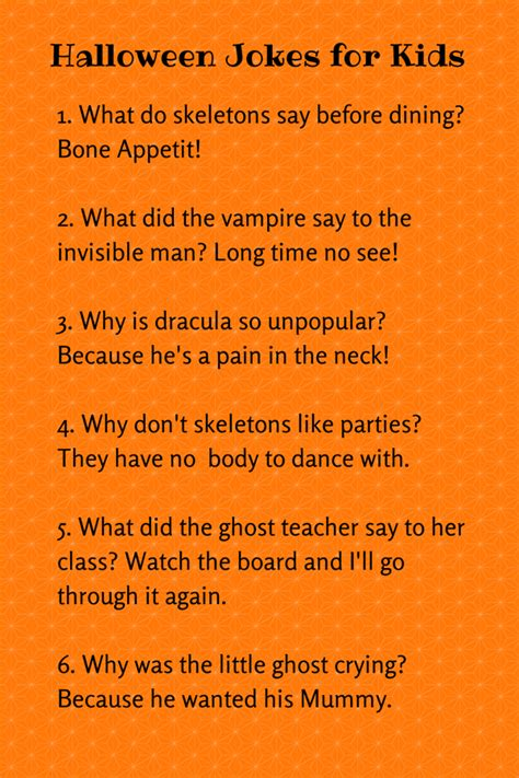 printable halloween jokes and riddles cute halloween jokes for kids