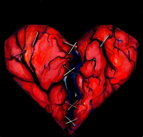 my broken heart in black by insignificantartist on deviantart