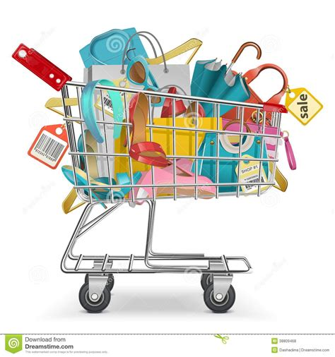 sexy stock photos royalty free images vectors vector trolley with purchase stock vector image 38809468