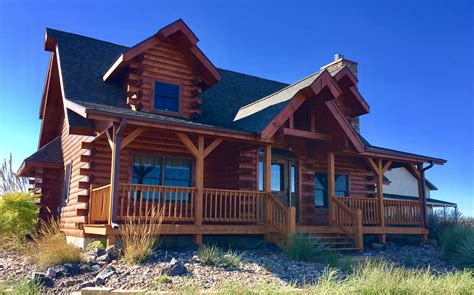 modern style small log home 171 real log style modern log cabin with shop and land colson agency inc