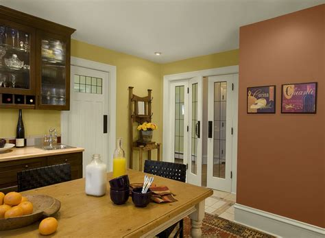 spicy modern yellow kitchen marblehead gold hc 11 walls audubon russet hc 51 accent wall