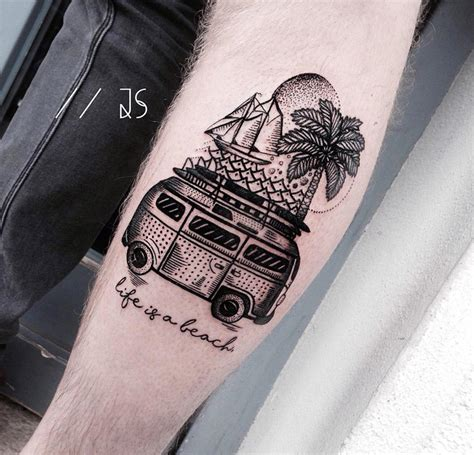 life is a beach best tattoo design ideas