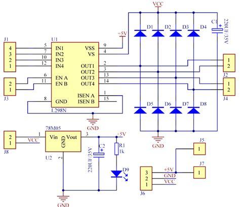 l298n circuit diagram dual h bridge for dc and stepper motors ardushop