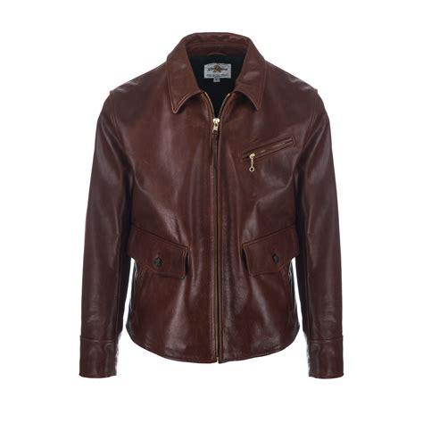 Azcost Wingtif Mat Leather Pull Up Brown Original vintage dockworker jacket brown b74