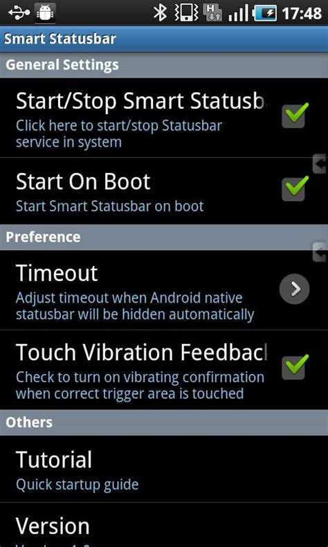 status bar android android 應用 smart statusbar 全屏幕下打開頂部狀態列 techorz 囧科技