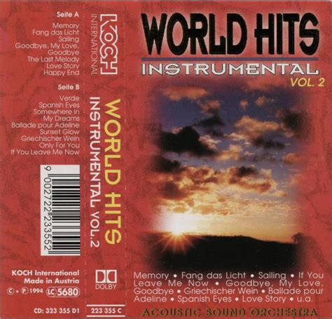 acoustic love songs vol 2 acoustic sound orchestra world hits instrumental vol 2