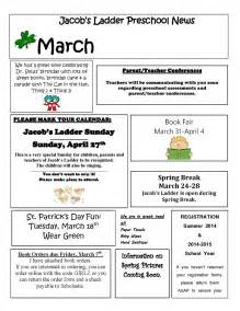 march newsletter template 8 best images of march preschool newsletter february