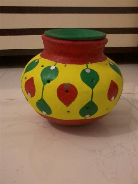 Pot Decoration colourful navratri pot decorated by our fan