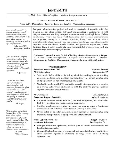 resume format for technical support executive executive assistant resume