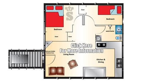Kitchen Layout by Admiral Series Bomb Shelter 20x20 Rising S Company