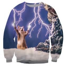 Lightning Cat Sweatshirt Aliexpress Buy Alisister Unisex Fashion