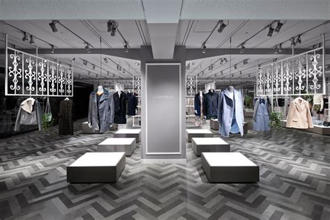 Fancy Store Interior Design by Nendo Designs Compolux Luxury Retail Store Interior In Tokyo