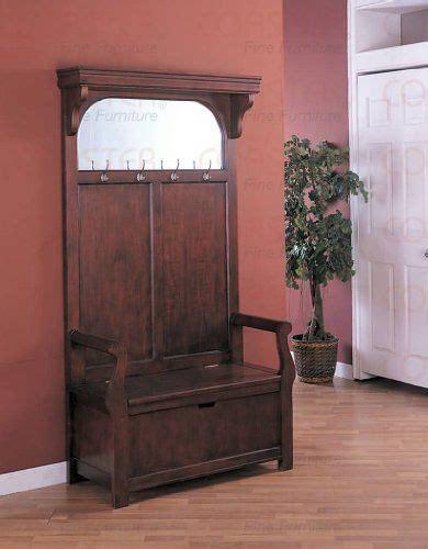 cherry wood hallway cherry entryway wood hall tree coat rack storage bench